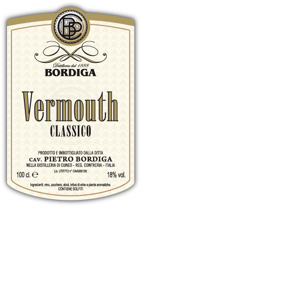 bordiga vermouth label