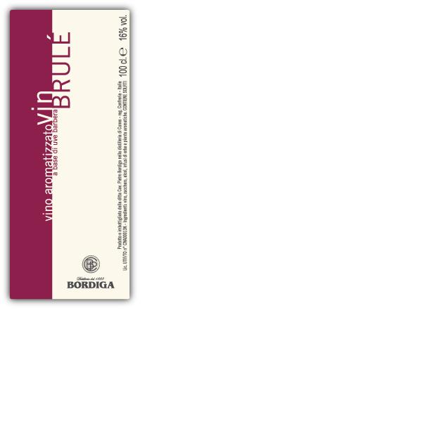 bordiga vin brule label